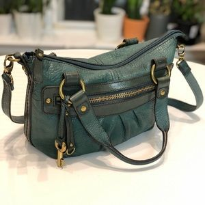 Fossil Green Leather Crossbody